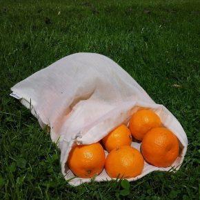 Nachhaltig einkaufen - der wiederverwendbare Beutel für Brot, Obst und Gemüse
